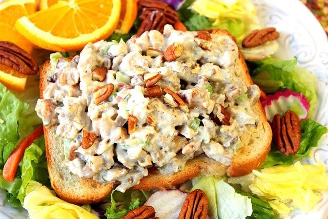 Orange Cashew Chicken Salad www.kudoskitchenbyrenee.com