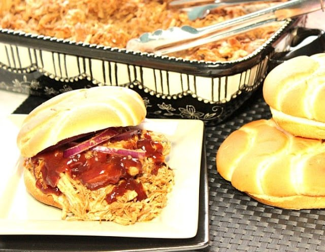 Slow-Cooker BBQ Pulled Chicken Sandwiches
