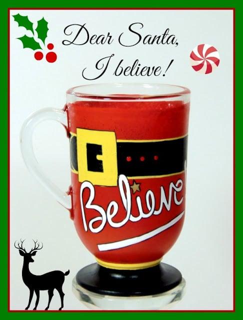 I believe in Santa coffee mug.