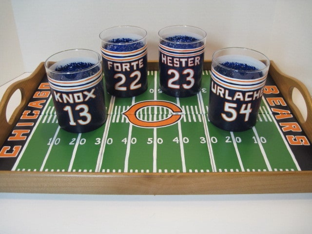 Football Stadium Tile Tray and Tumbler Set