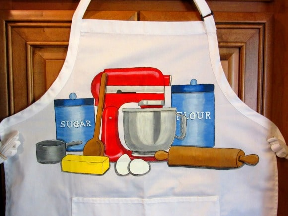 Stand Mixer Painted Apron