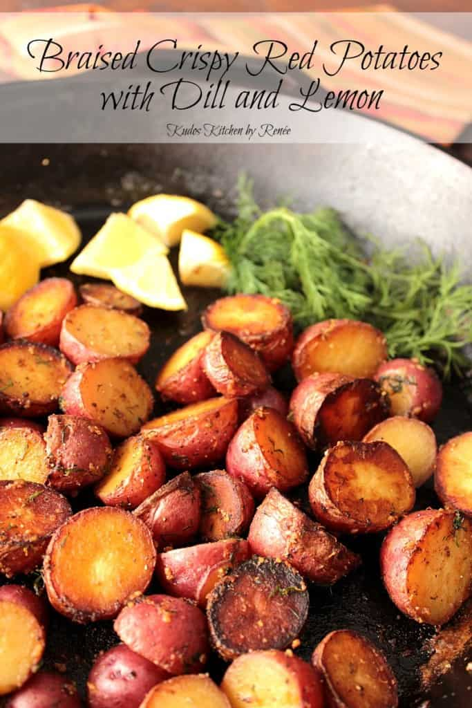 Red Potatoes Braised in a Skillet