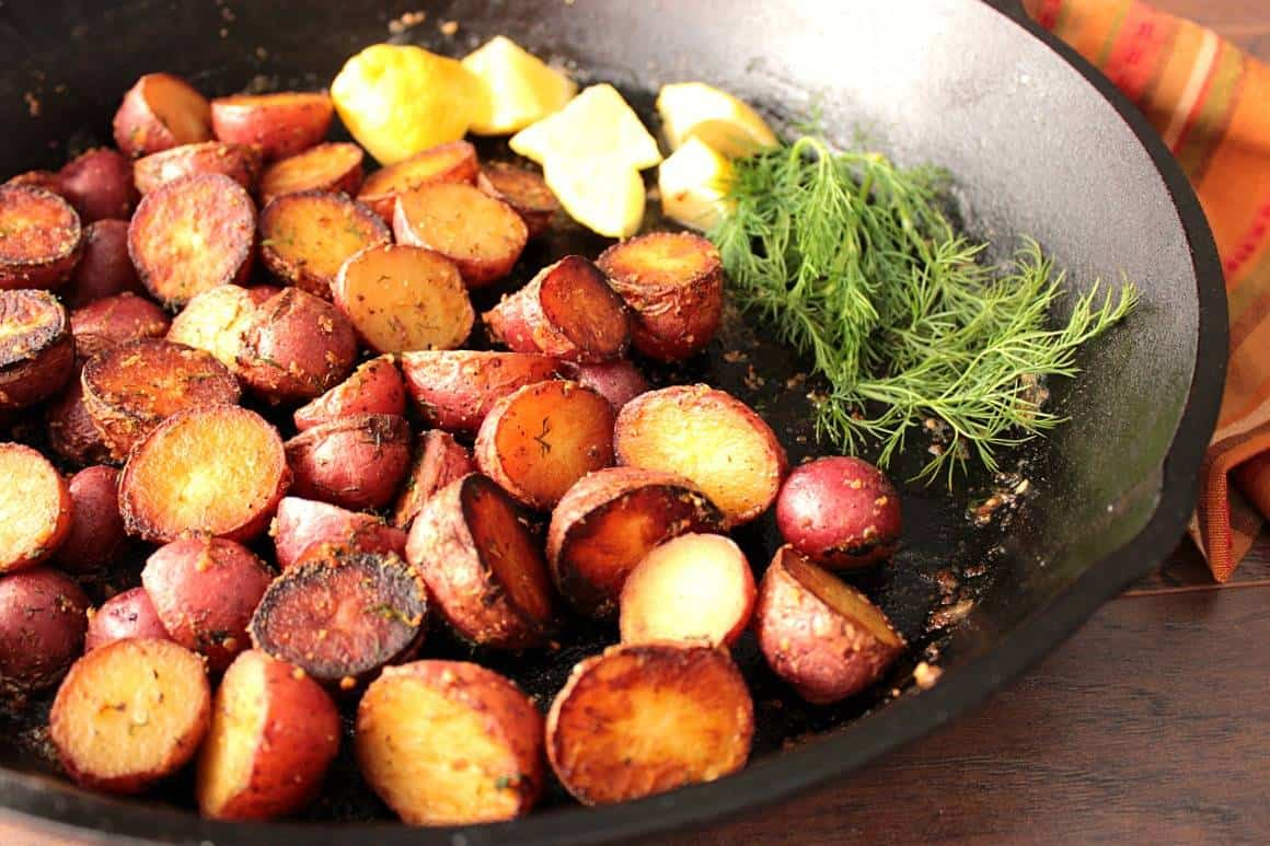 Easy Braised Potatoes with Lemon and Dill