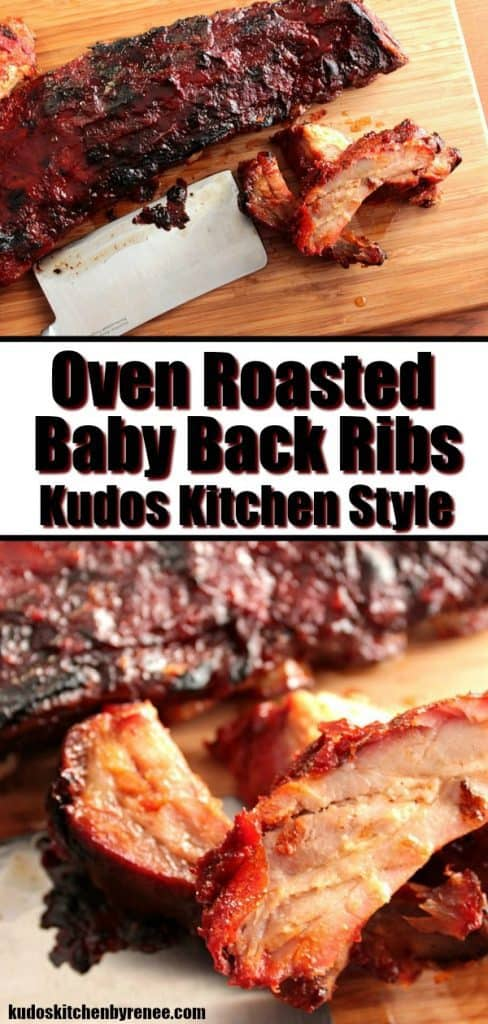 Cooking these baby back ribs, low and slow, with a minimum of ingredients ensures excellent meaty flavor and quality tenderness. Oven Roasted Baby Back Ribs for the WIN! - kudoskitchenbyrenee.com