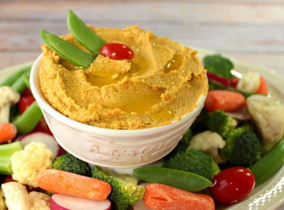Roasted Chickpea and Carrot Hummus Recipe