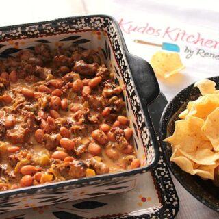 Sloppy Bean and Sausage Dip Recipe