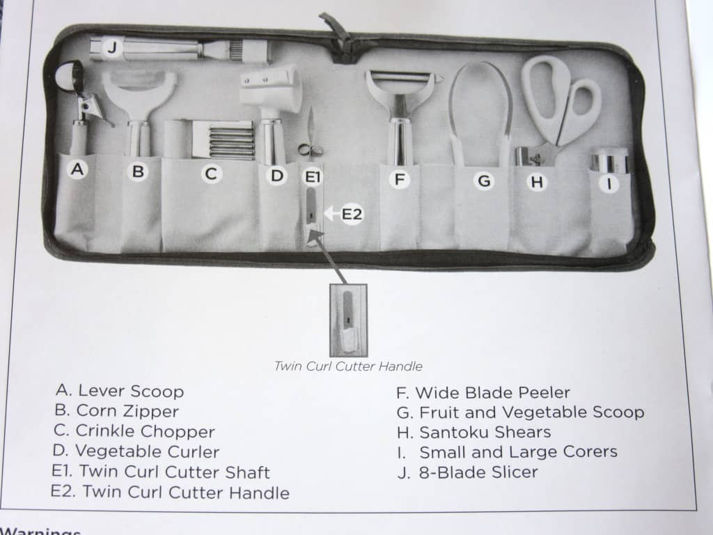 WP garnishing tool set