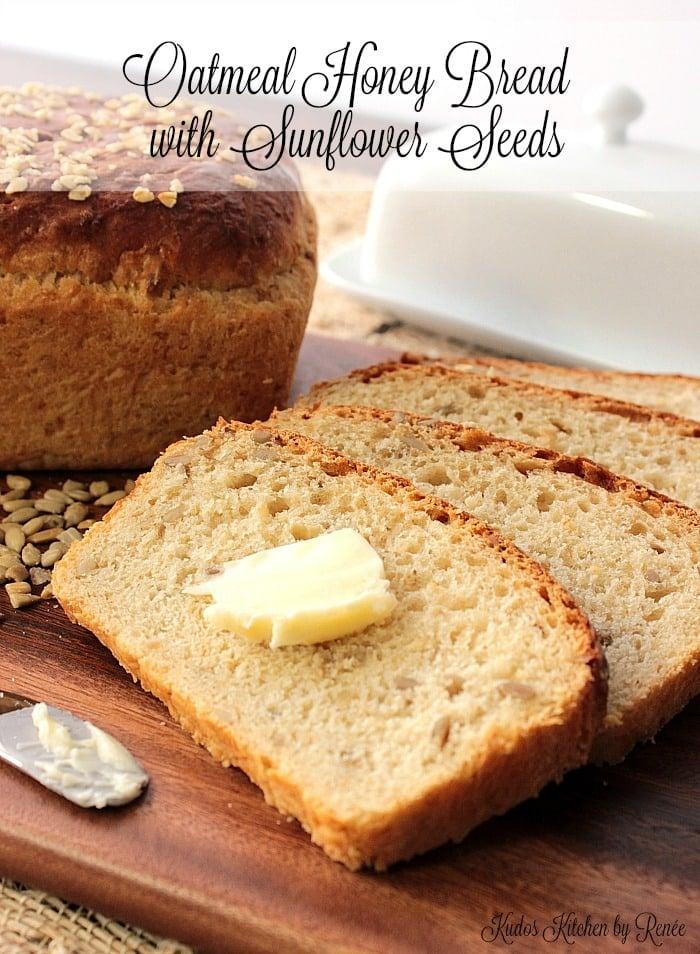 Homemade Oatmeal Honey Bread