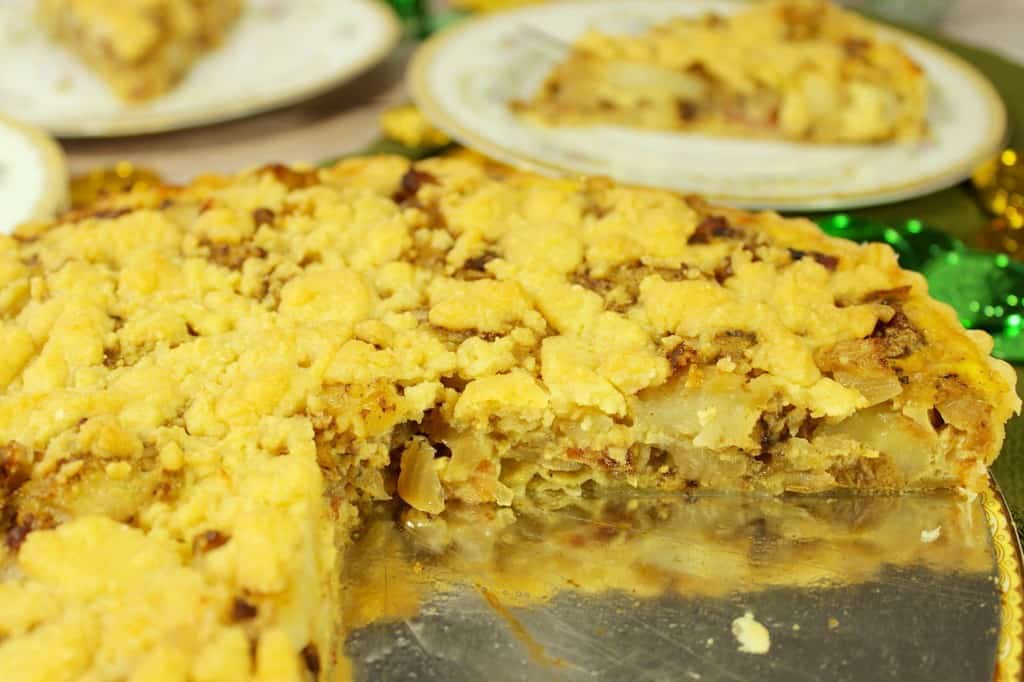 St. Patrick's Day cheese and potato tart.