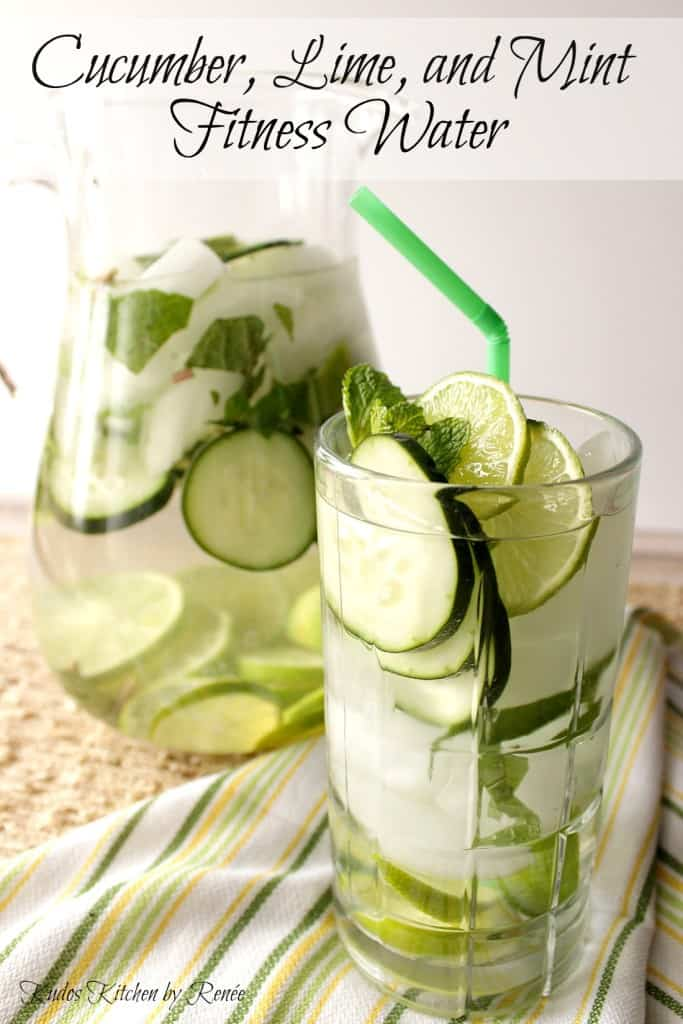 Keep yourself hydrated and healthy with this fitness water of cucumber, lime and mint.