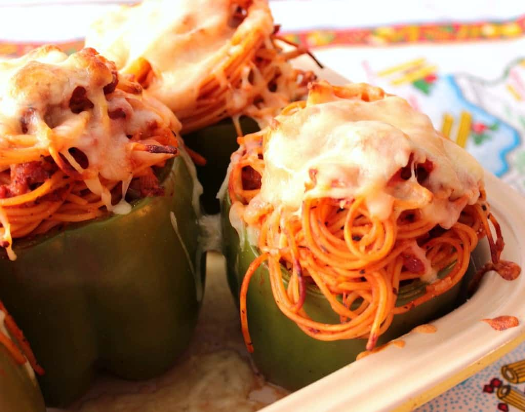 Stuffed Peppers with Spaghetti