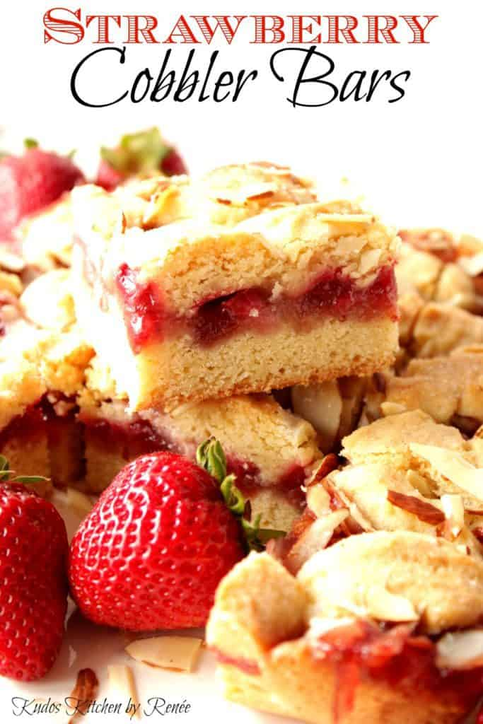 Easy Strawberry Cobbler Bars