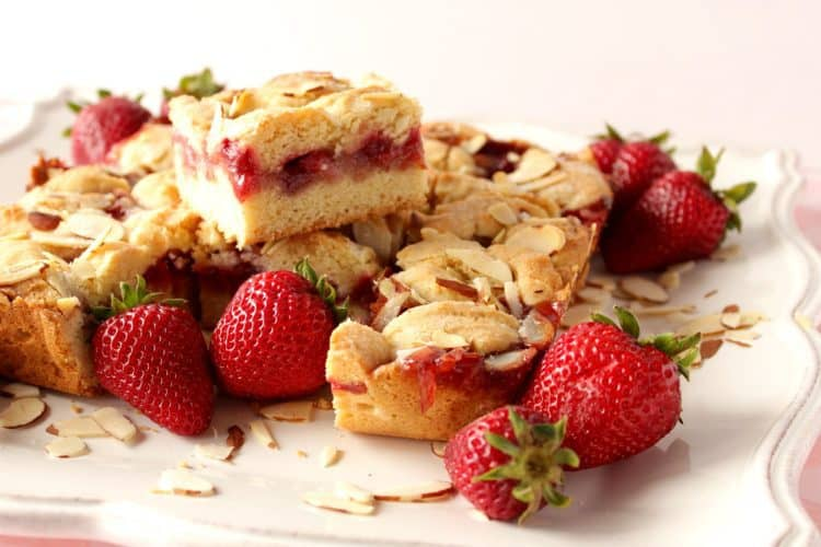 Foolproof Strawberry Cobbler Bars