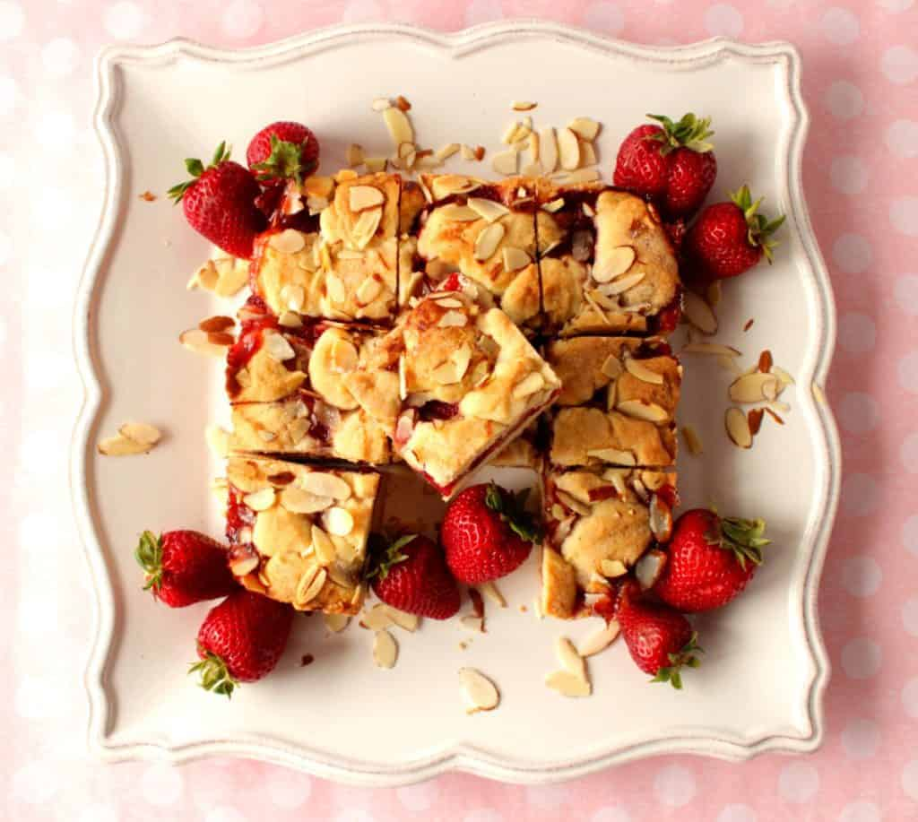Homemade Strawberry Cobbler Bars