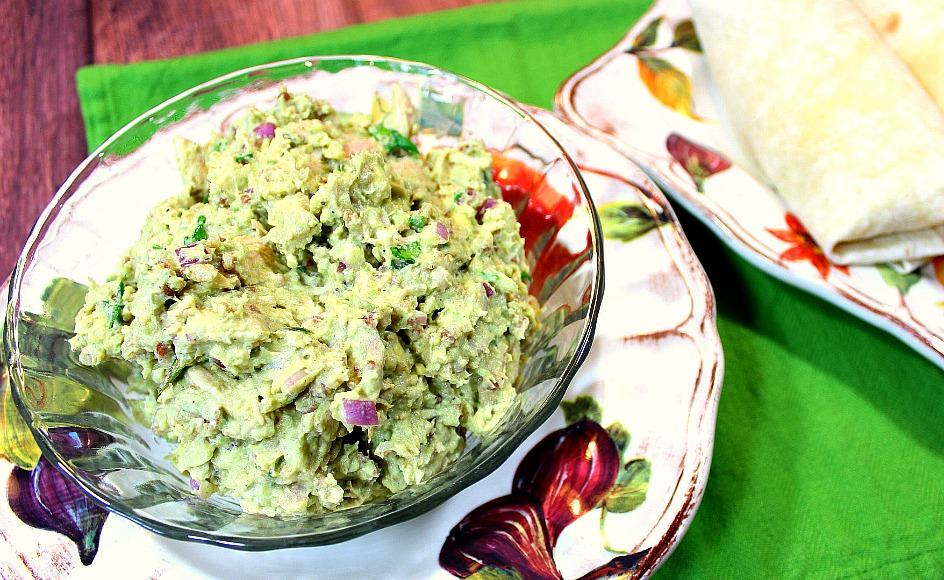 Chicken Salad made with avocados.
