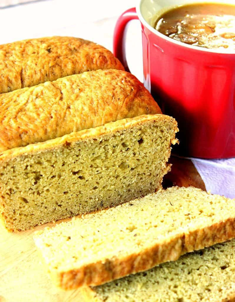 Homemade yeast bread with avocado