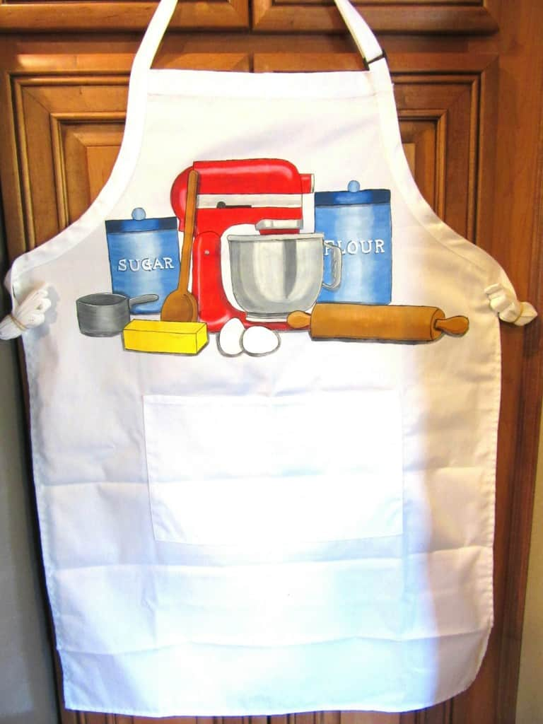 Stand mixer hand painted bakers apron