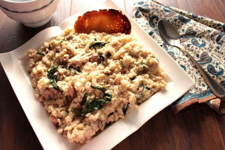 Comforting Creamy Mascarpone Chicken Risotto