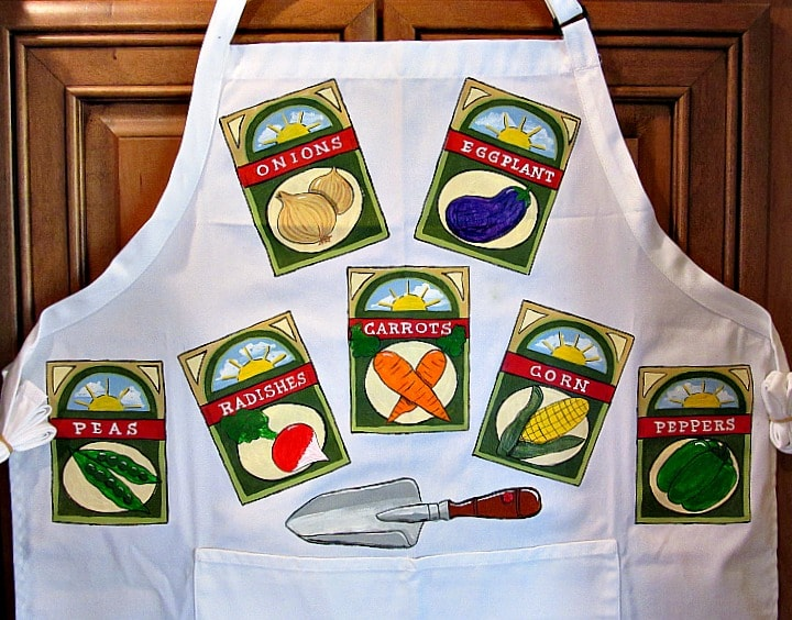 Seed Packet Hand Painted Apron
