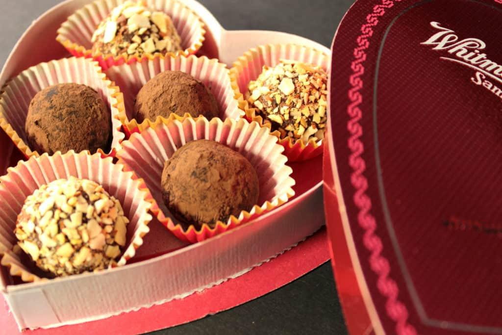 Chocolate truffles made with avocados