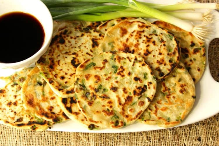 Asian Inspired Savory Scallion Pancakes