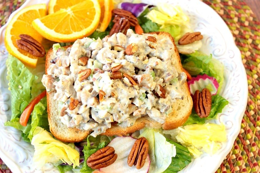 Chicken Salad with Orange and Cashews