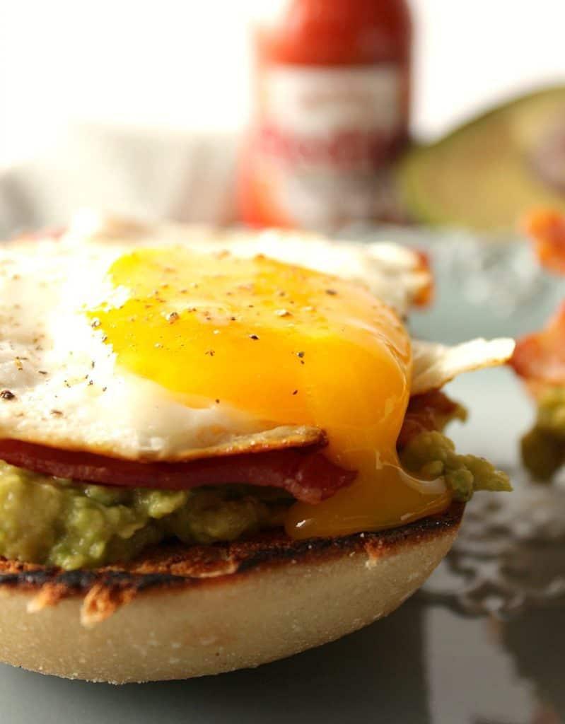 Avocado and Egg Breakfast Sandwich