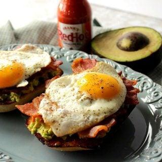Bacon Egg and Avocado Toast