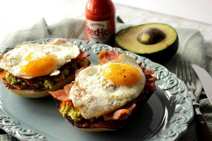 Bacon Egg and Avocado Toast