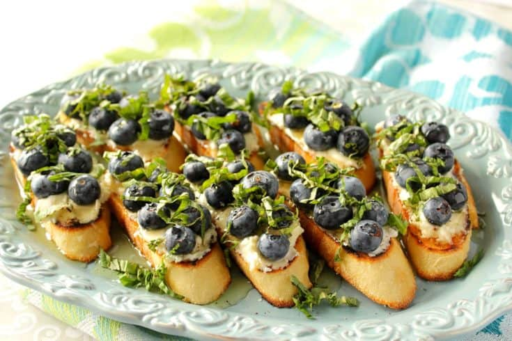 Bruschetta with Basil and Blueberry