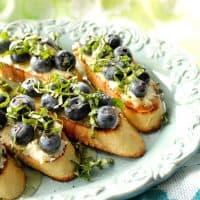 Five Ingredient Blueberry Basil Bruschetta
