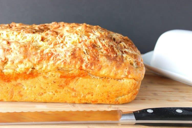Cheesy Monterey Jack Jalapeno Quick Bread