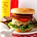 Pork Belly Burger with Shallots