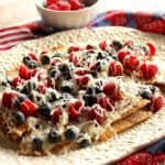 Dessert Nachos with Raspberries and Blueberries
