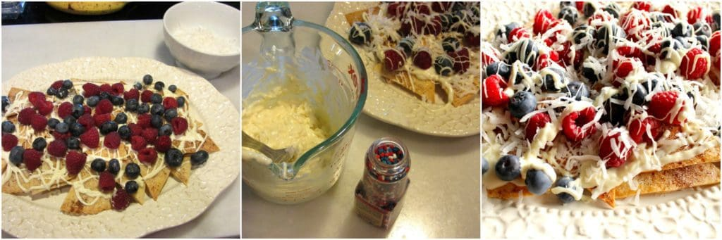 How to make dessert nachos photo tutorial.