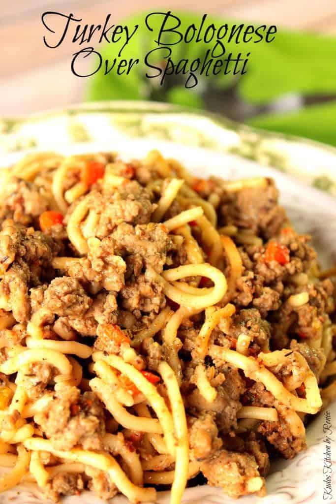 Spaghetti with Turkey Bolognese