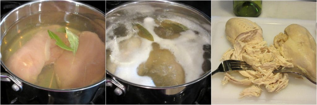 Poaching chicken in white wine recipe