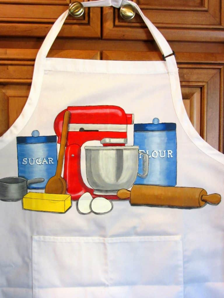 Kitchen Aid Hand Painted Apron - Kudos Kitchen Paints on Etsy