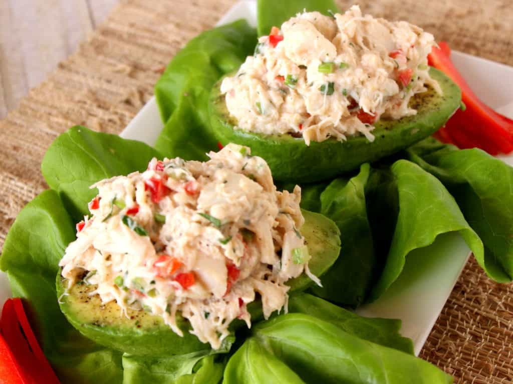 Healthy Crab Salad Stuffed Avocado