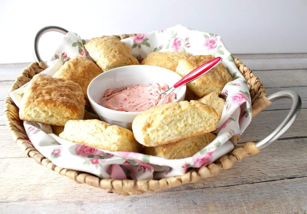 Cream Cheese Biscuits with Strawberry Butter