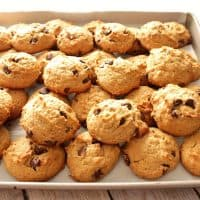 Soft and Chewy Peanut Butter Banana Chocolate Chip Cookies
