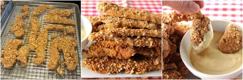 Baked Pretzel Pecan Coated Chicken Tender Recipe