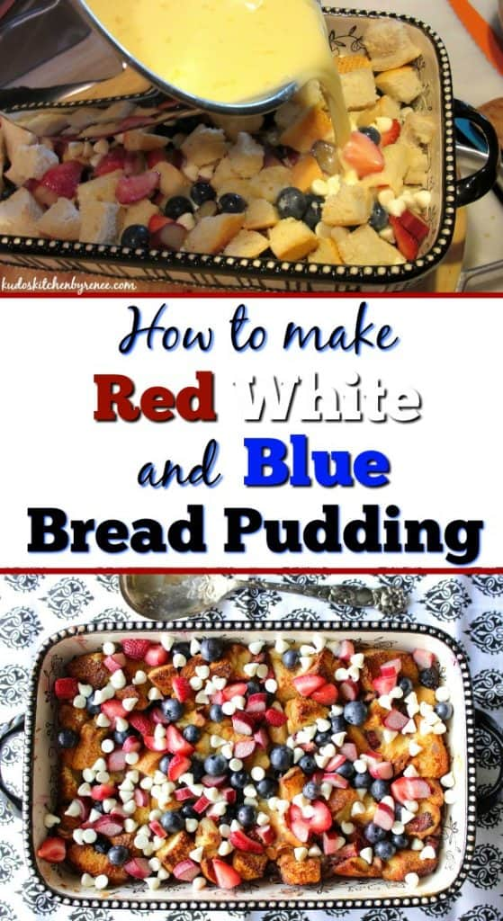 Title text collage image of red white and blue dessert nachos