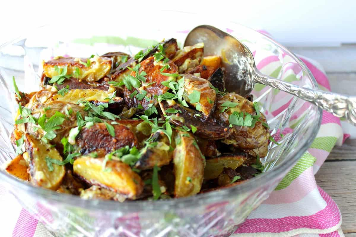 Easy Roasted Potato Salad with Mustard Dressing