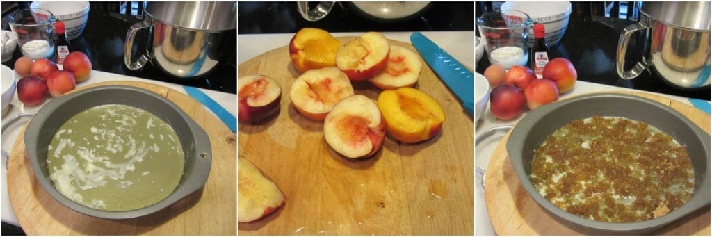 Making a Nectarine Upside Down Cake