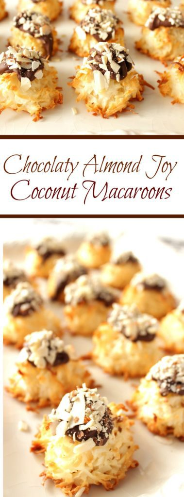 Coconut Macaroons with Almonds and Chocolate