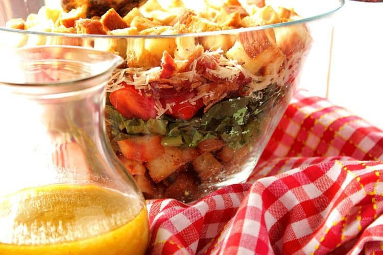 BLT Layered Salad With Homemade Croutons