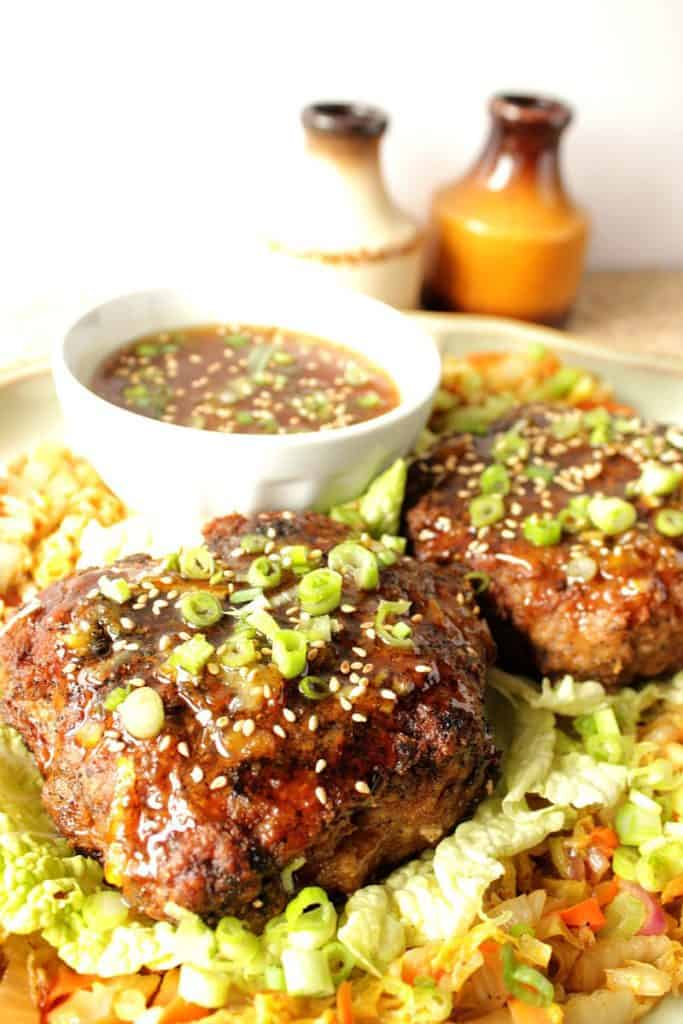 Ground Duck Burger Recipe with Asian Cabbage