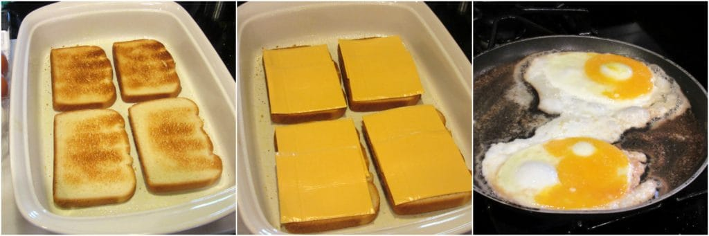 How to make egg sandwich breakfast casserole photo tutorial.