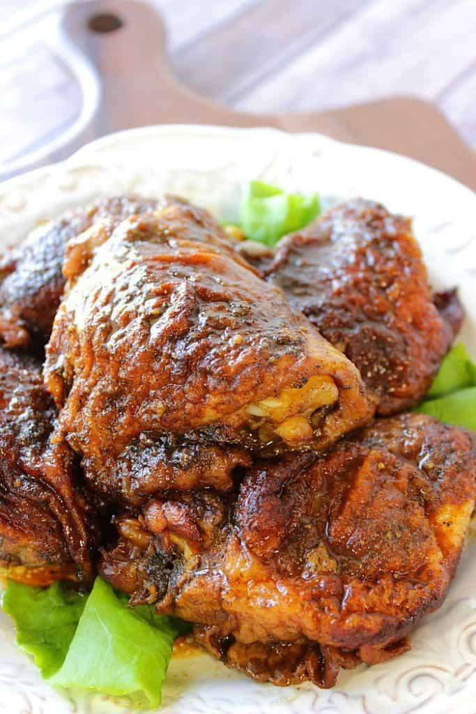 Glazed Gingerbread Chicken